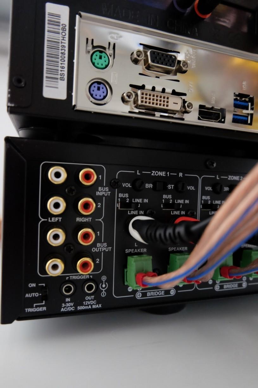 Music Server mit 2 Verstärkern (12 Räume) - Verkabelung (Trigger) + ...